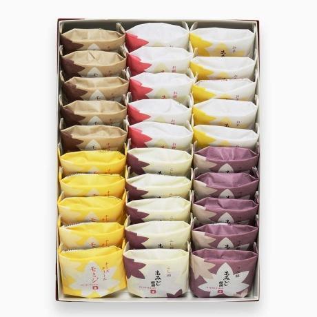 錦もみじ 30個入(こしあん×5、粒あん×5、チーズクリーム×5、チョコレート×5、お餅×5、お芋×5)